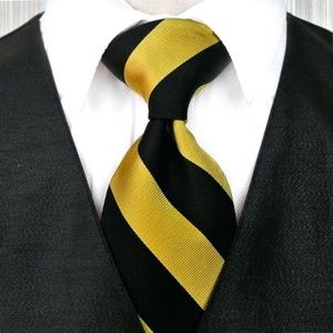 Brooks Brothers Tie   Navy and Gold Striped Tie